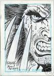 Sketch card Wolverine Barker
