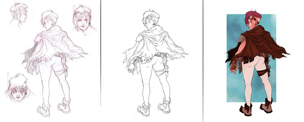The Character Design Process : Saraprados sara prado da silva deviantart