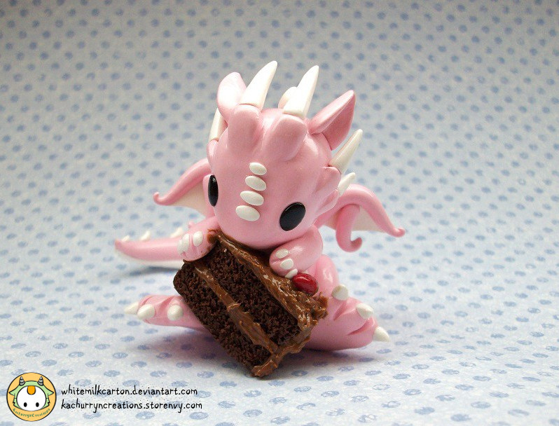 Chocolate Cake Dragon by whitemilkcarton