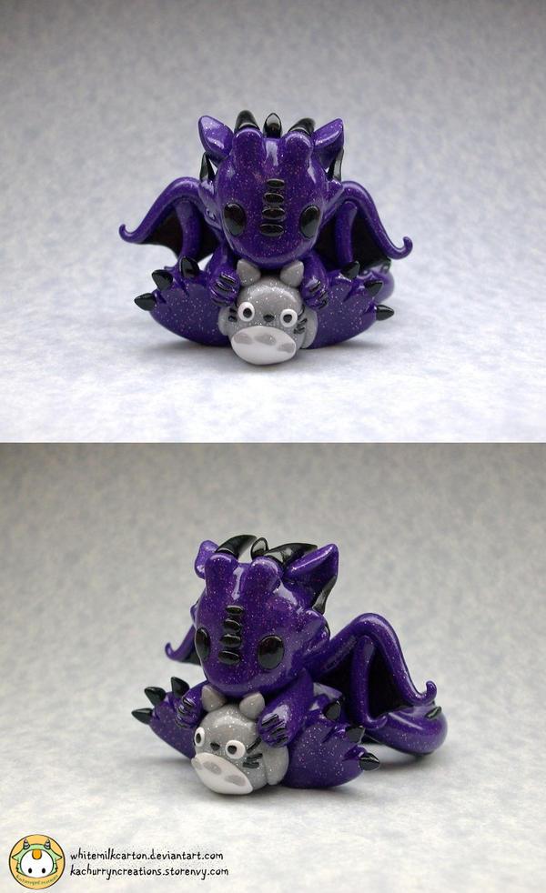Dragon with Totoro by whitemilkcarton