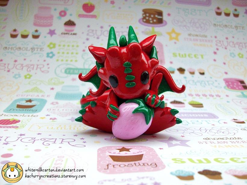 Strawberry Dragon by whitemilkcarton