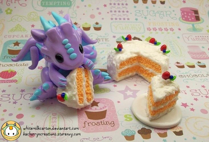 Dragon Cake Set by whitemilkcarton