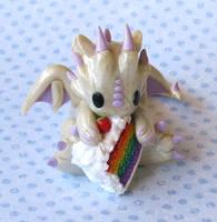 Rainbow Cake Dragon by whitemilkcarton