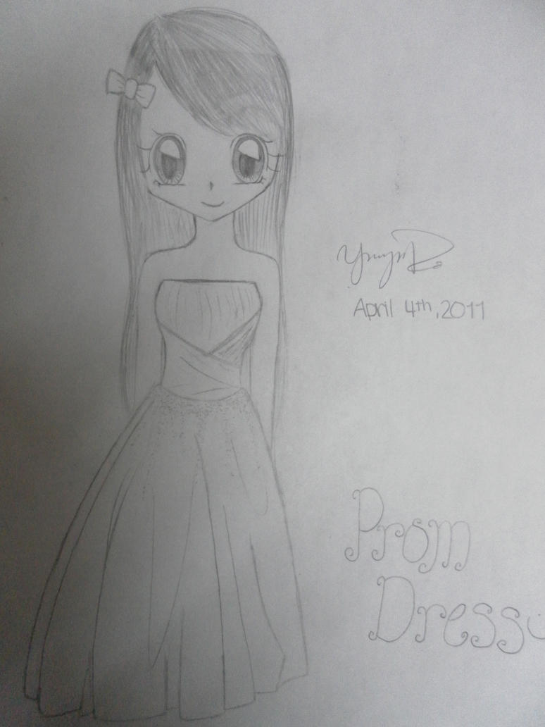 how to draw a girl in a prom dress