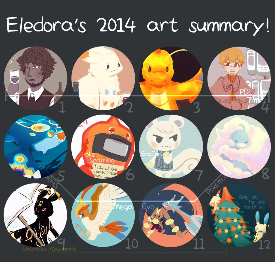 2014 art summary! by Eledora