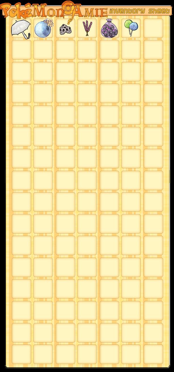Pokemon Amie Item Inventory! by Eledora