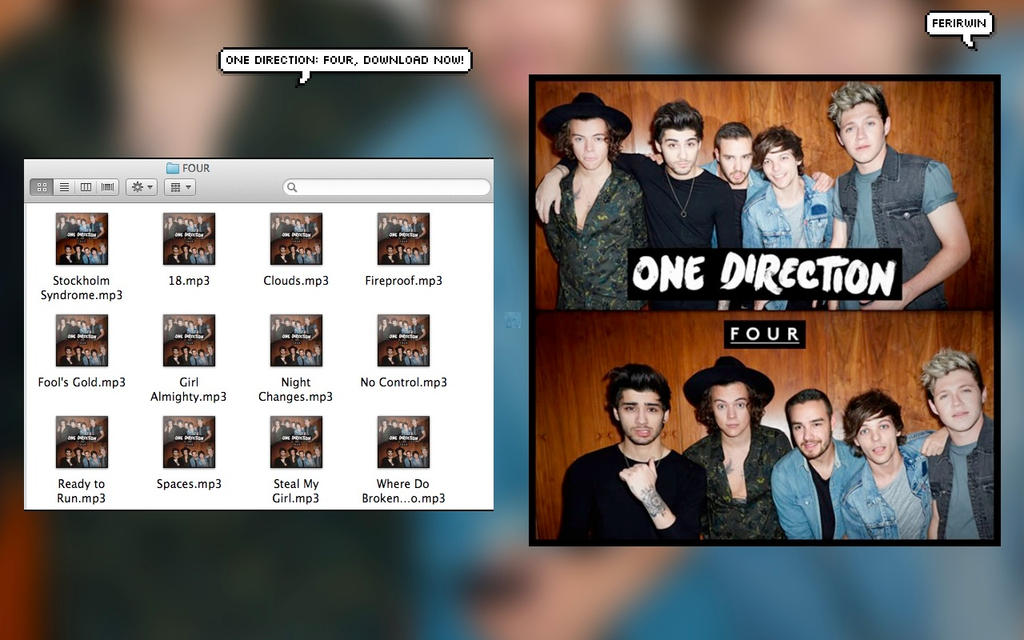 ONE DIRECTION: FOUR ALBUM  DESCARGALO AHORA! by FerIrwin on DeviantArt