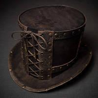 Steampunk top hat stylized old bronze. by ElBorodero