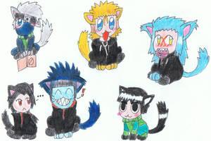 Random Naruto and KH kittys by Shiny-auragirl