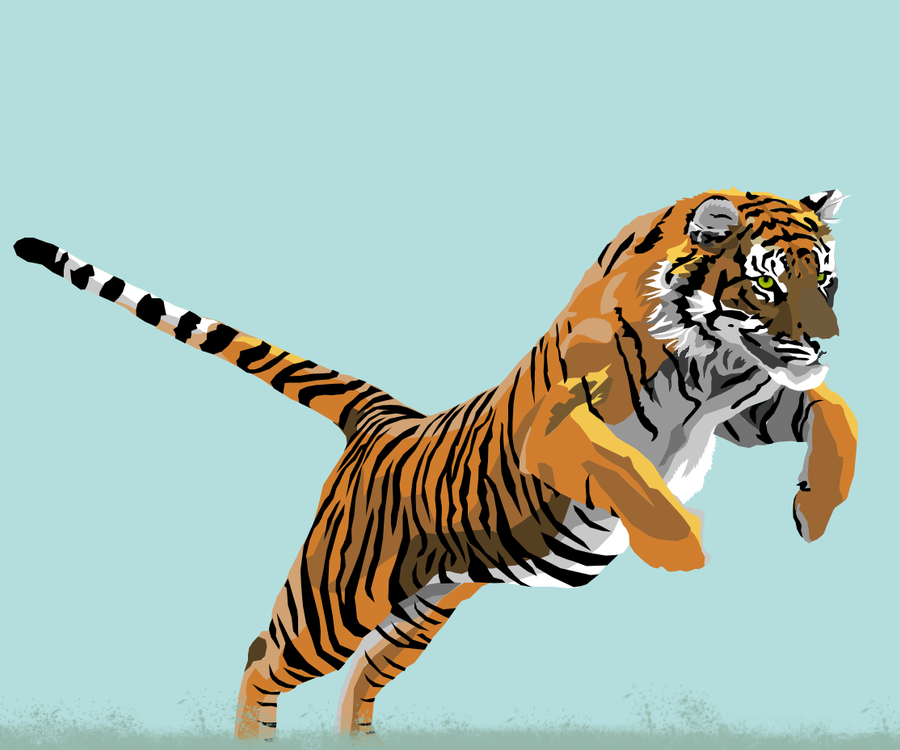 tiger vector by rachaelehunt on deviantart