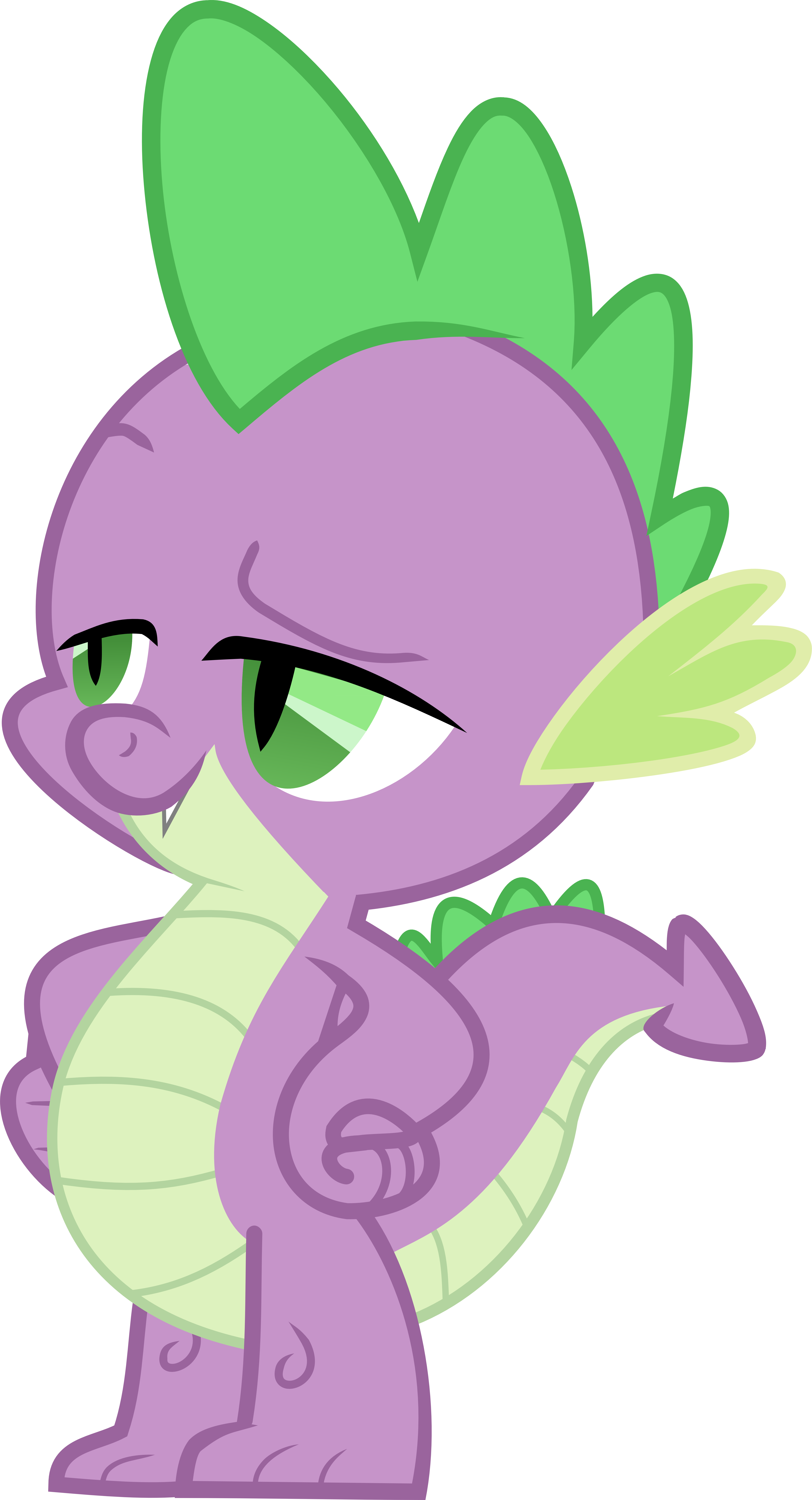 Spike Tells it as it is v2 vector by Exbibyte