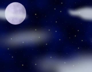 background trial - stary night by Emocatdragon