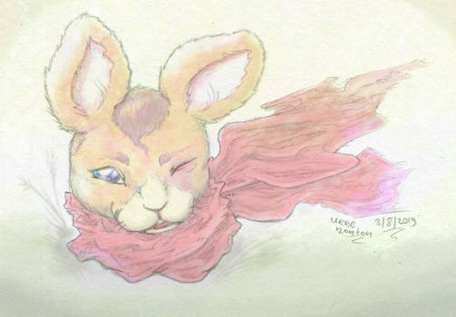 Rabbit With Scarf