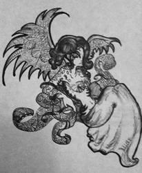 The Doodle Angel by faeryofiris