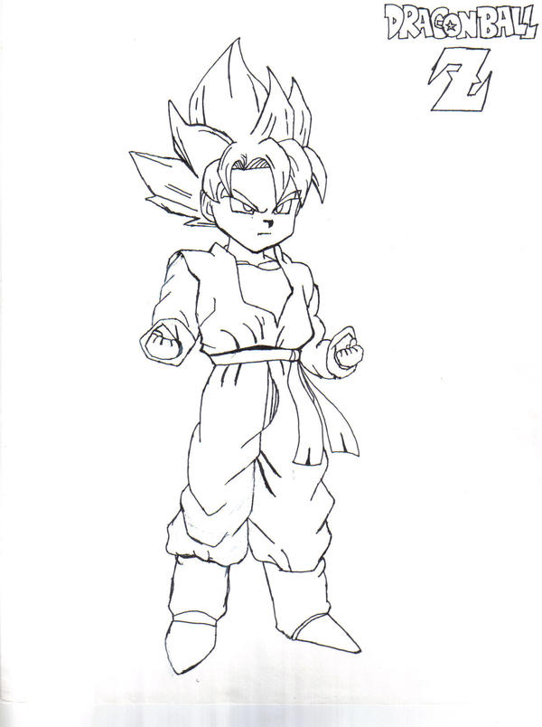 How To Draw Dragon Ball Z Goten