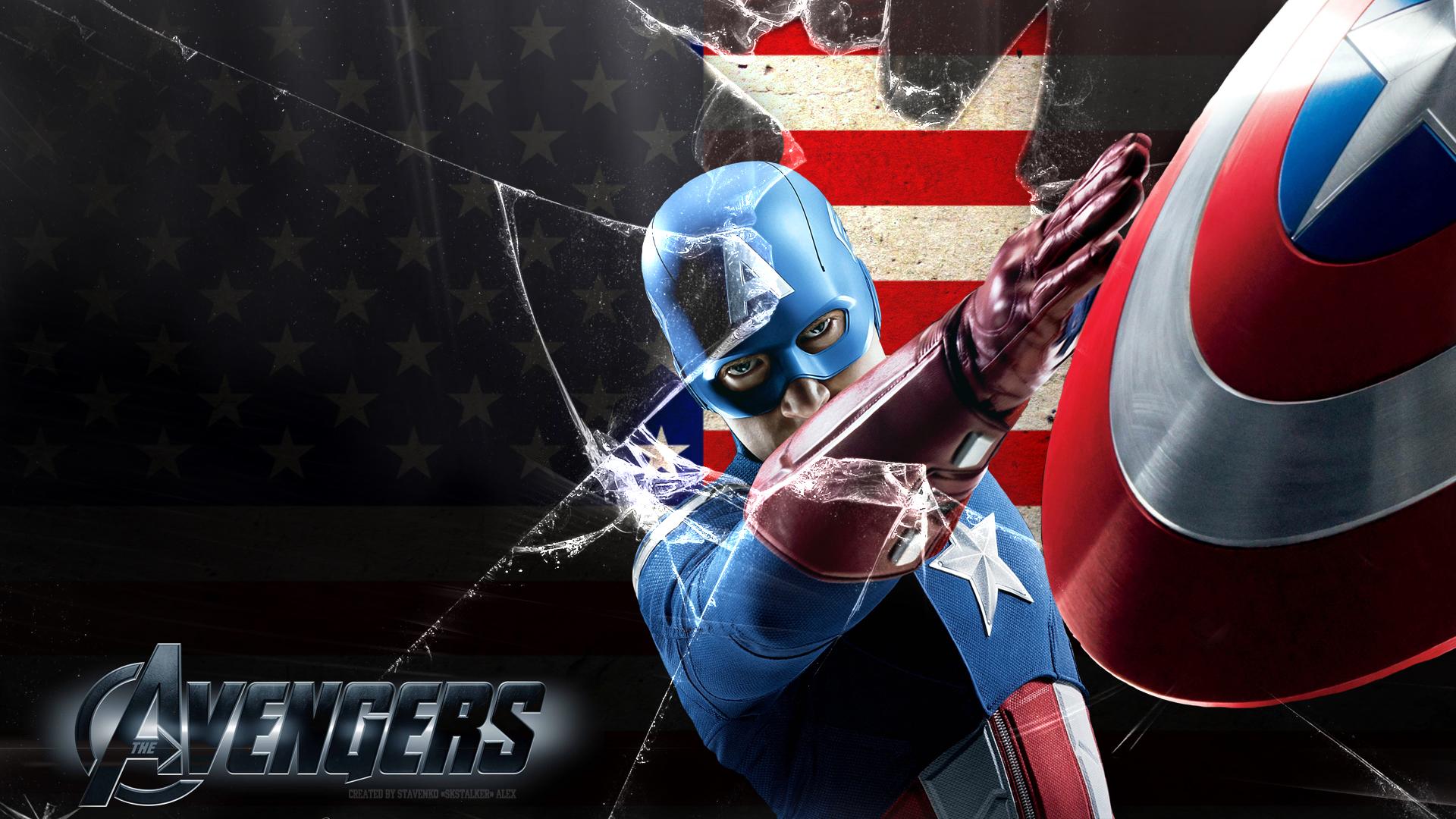 avengers captain america wallpaper 1080p by skstalker on