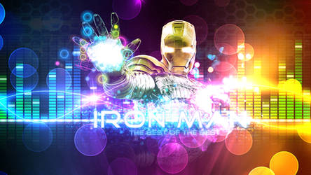 Iron Man Wallpaper in Daft Punk Style 1080p by SKstalker