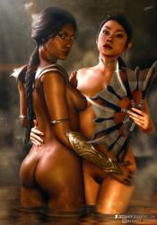 Mortal Kombat l Kitana and Jade l by SKstalker
