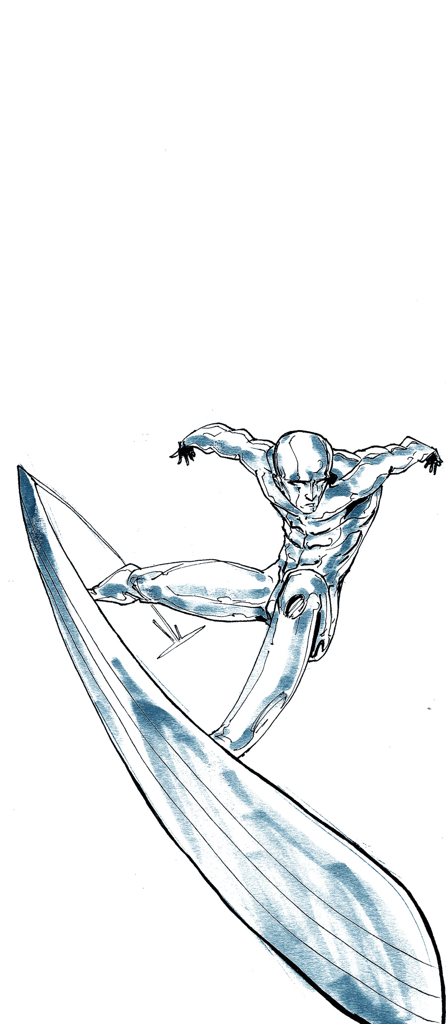 the Silver Surfer by Alberto-Rios