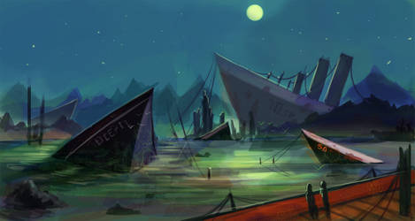 Shipwreck Speedpaint by jeremyjosh