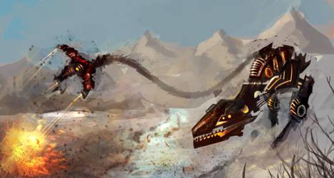 Speedpaint II: Dinobot by jeremyjosh
