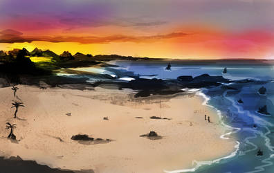 sunset scape speedy by jeremyjosh