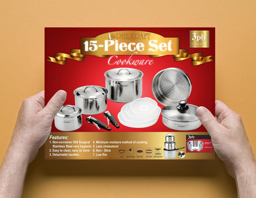 Philkraft 15 pcs set cookware by Leling