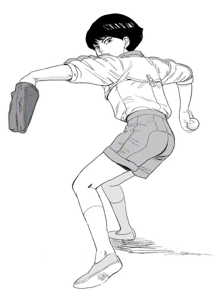 Kay's pitching form by otenba-bekki on DeviantArt
