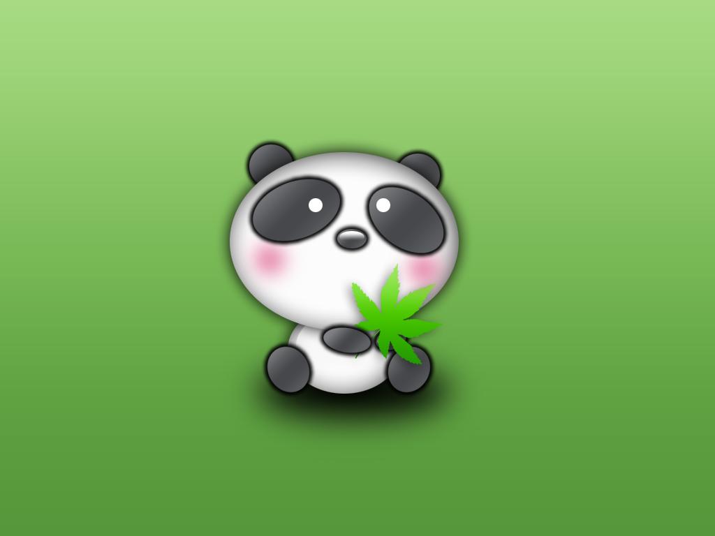 cute panda painting wallpaper - photo #20