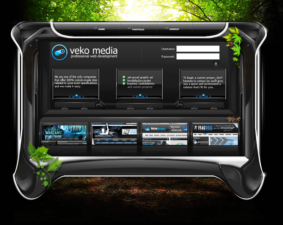 Website Portfolio Interface v6 by VekoMedia