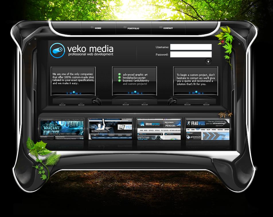 Website Portfolio Interface v6 by VekoMedia