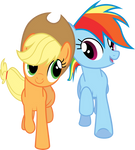 MLP: Applejack and Dashie in Fall Weather Friends