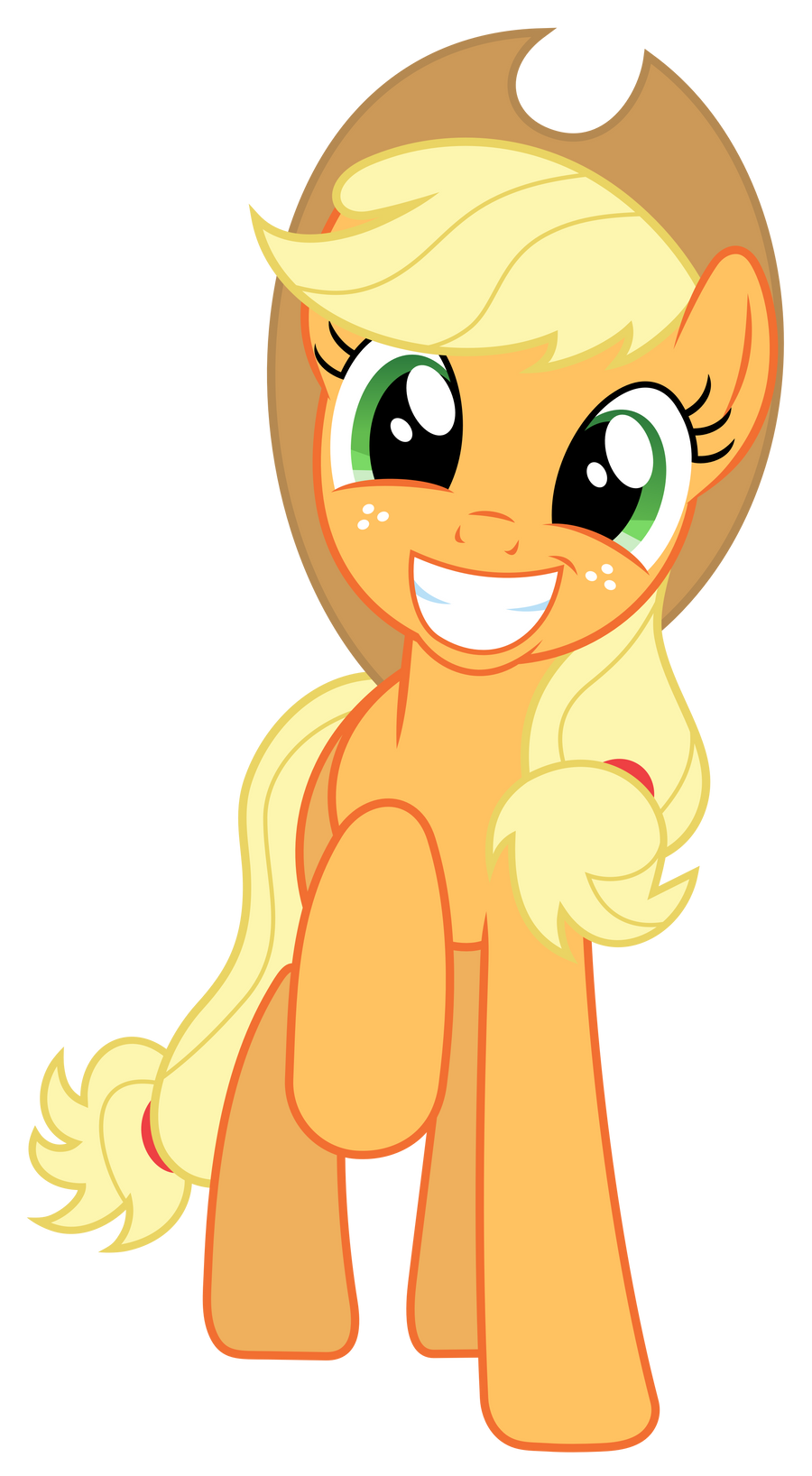 MLP: Very happy (and adorable) Applejack