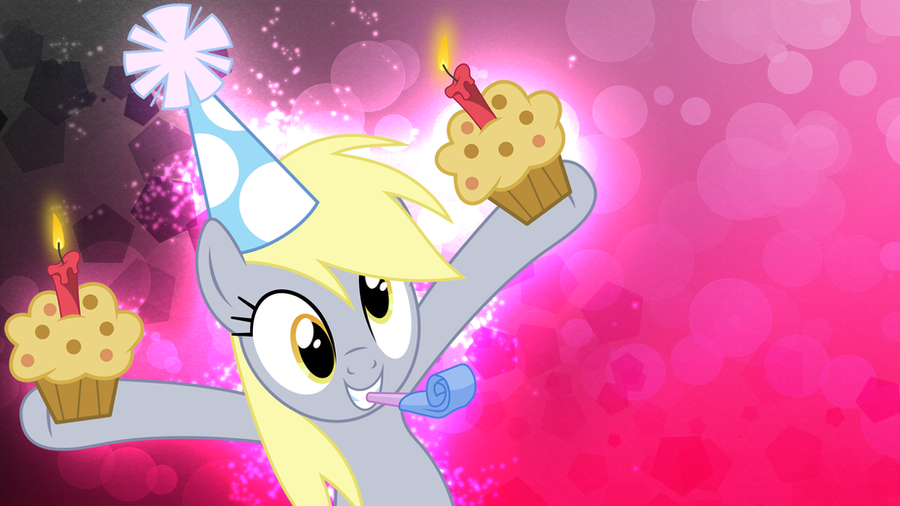MLP Derpys Muffin Party Wallpaper By FloppyChiptunes