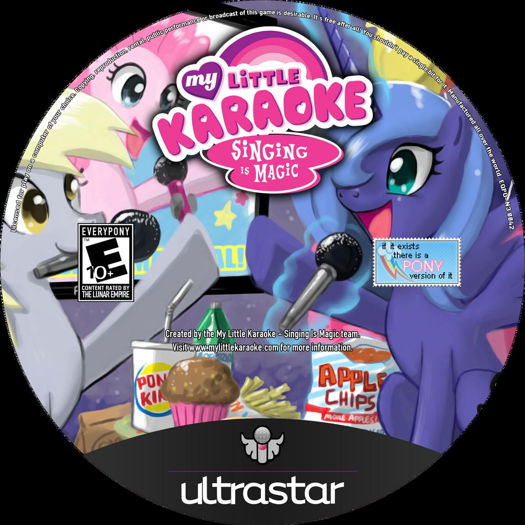 My Little Karaoke: Singing is Magic Blu-Ray Label by FloppyChiptunes
