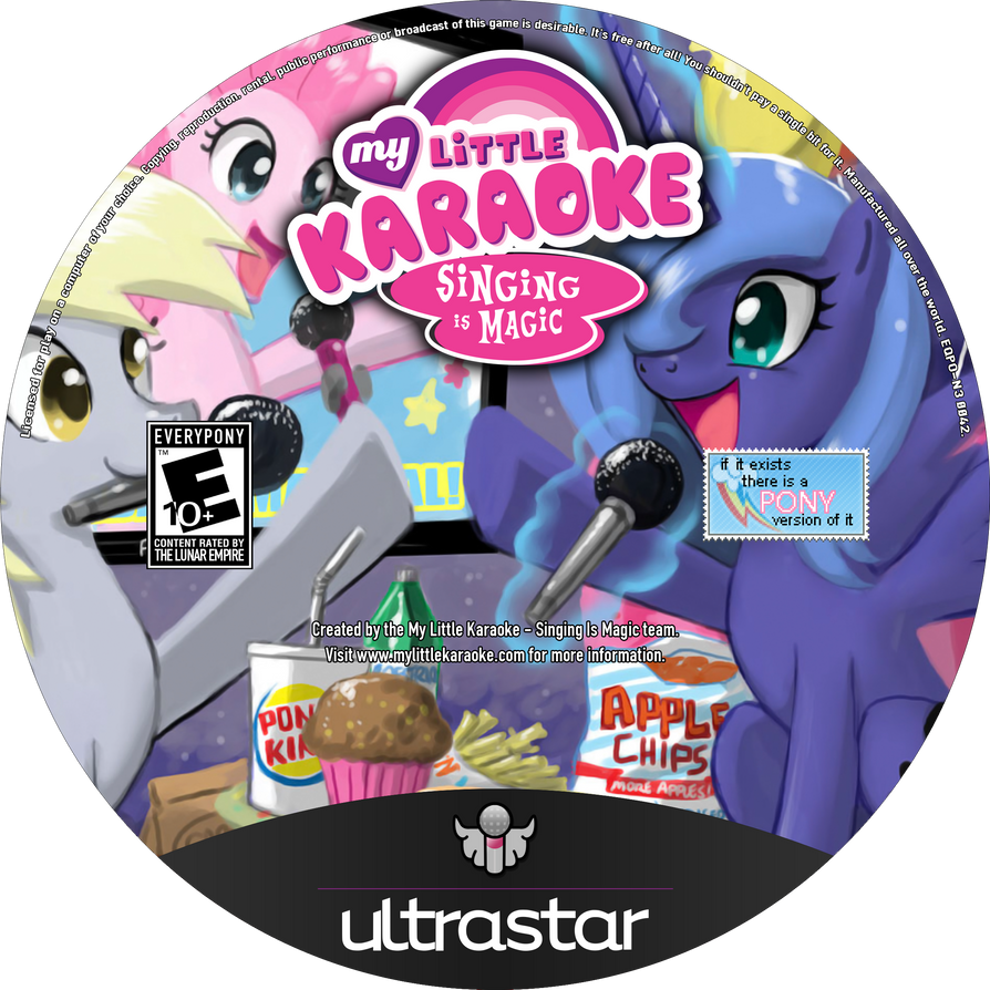 My Little Karaoke: Singing is Magic Blu-Ray Label by FloppyChiptunes