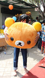 Me as Lawliet with Rilakkuma Head
