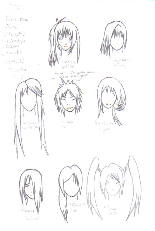 anime hairstyles drawing. draw anime hairstyles.