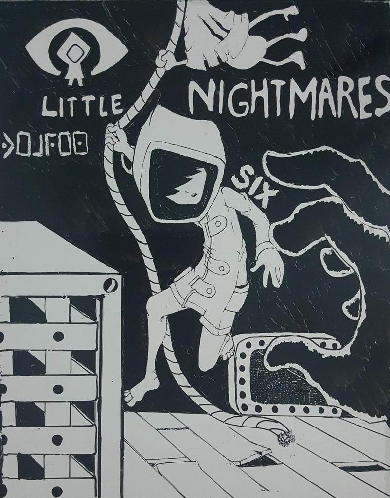 Little Nightmares (Whiteboard) 2017 by FireWeaver360