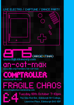 Chiptune Event Poster
