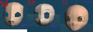 Metasequoia Face attempts by Shioku-990