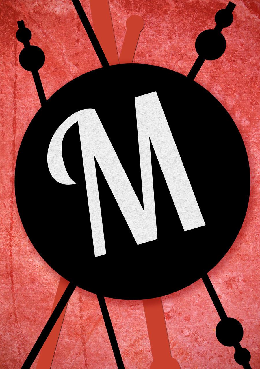 M Typography Art by z0enatasha