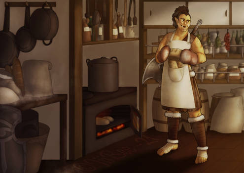 Baking Bread -Commission-