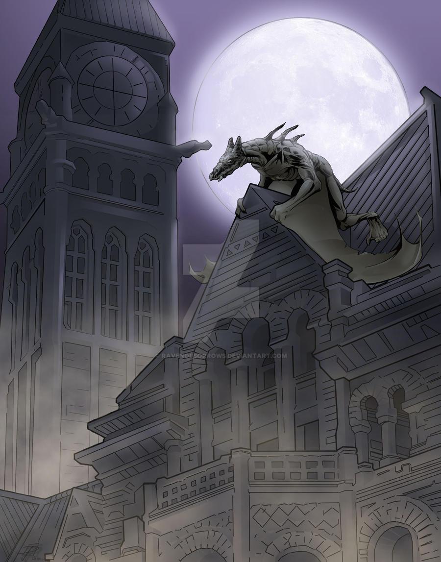 Gargoyle 2 by ravenofsorrows