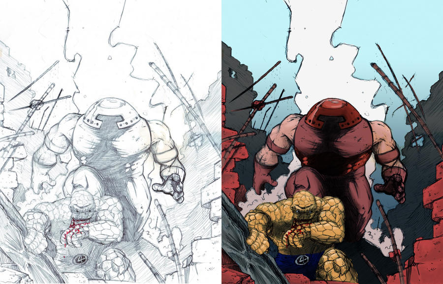 Marvel's Thing vs. Juggernaut by MDMacKay on DeviantArt
