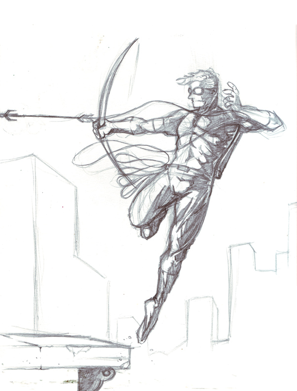 Green arrow police sketch