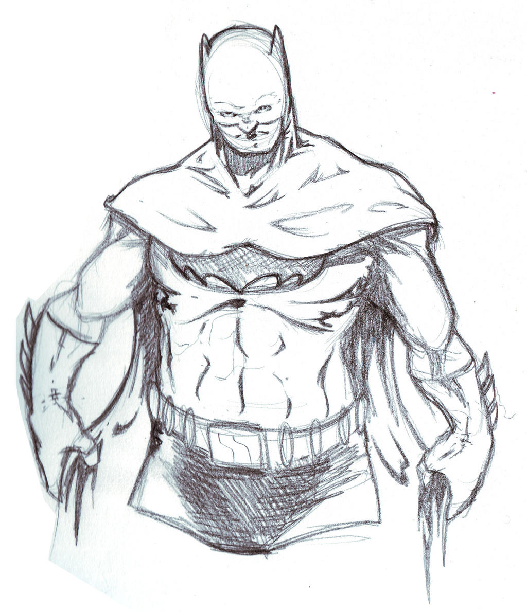 Batman pencil Sketch 15 min by MDMacKay on DeviantArt Batman Drawing In Pencil Easy