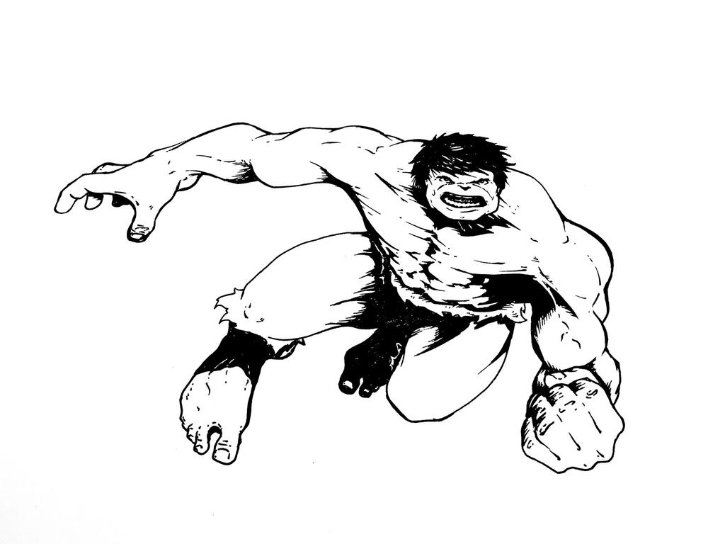 Hulk Drawing Inked by MDMacKay on DeviantArt
