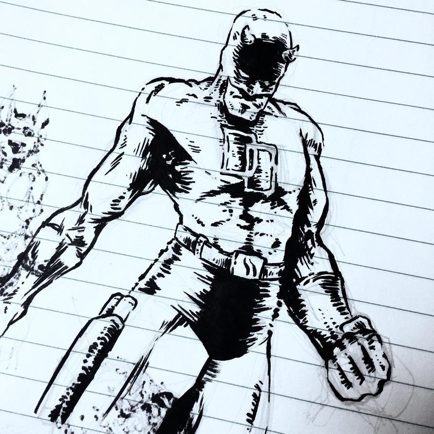 Daredevil Doodles by MDMacKay