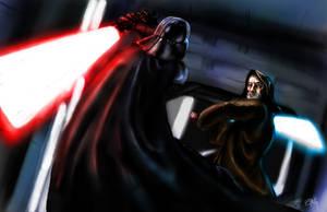 Obi Wan vs Vader by GurgleSploit